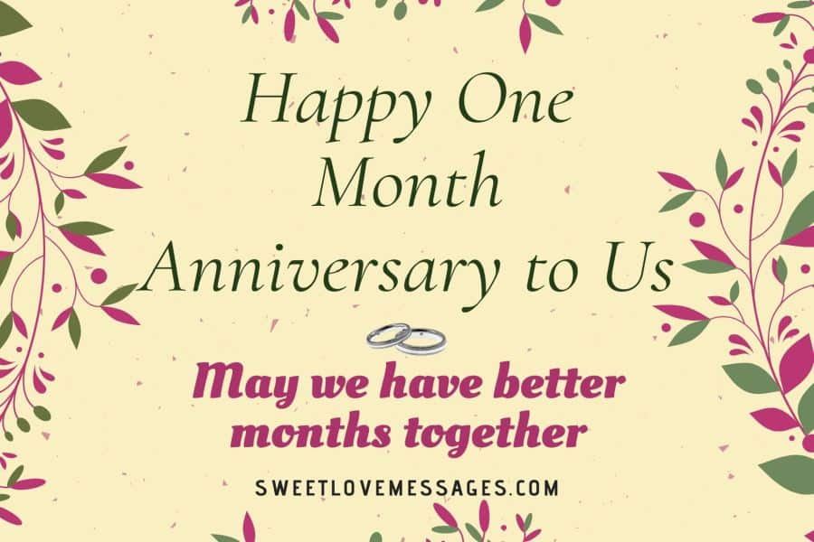 Couple First Month Anniversary Quotes
