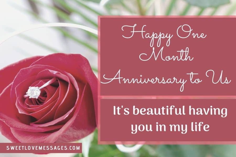 Couple First Month Anniversary Wishes