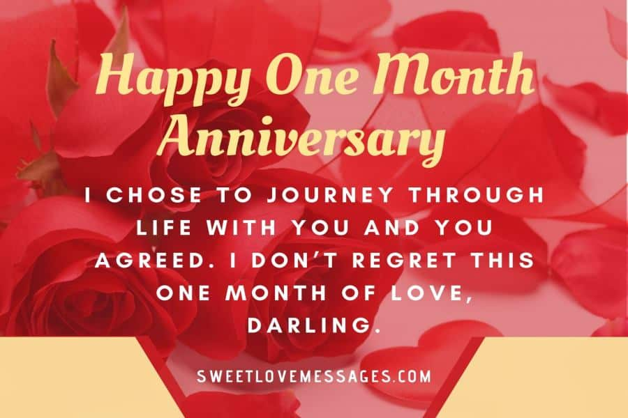 Couple First Month Anniversary
