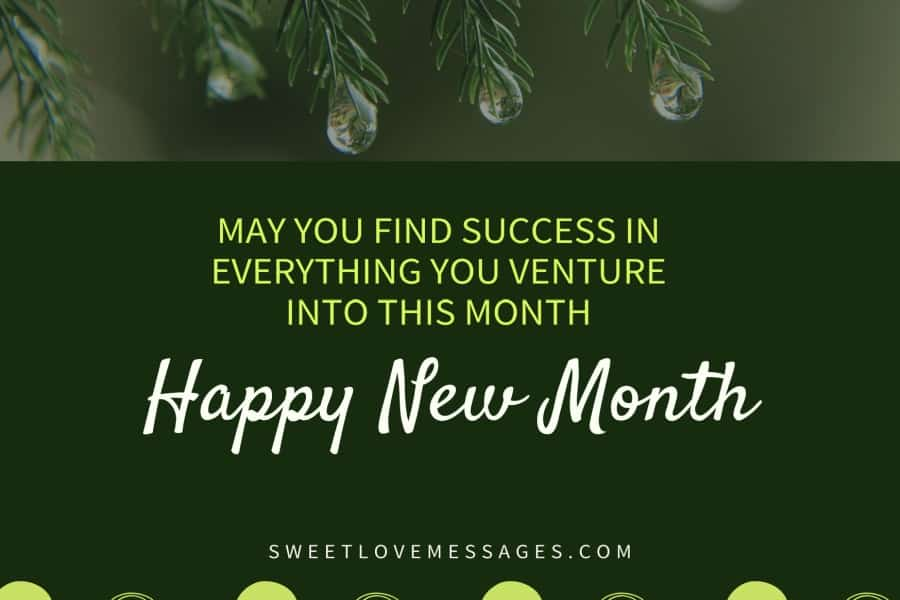 Happy New Month Messages to My Boss