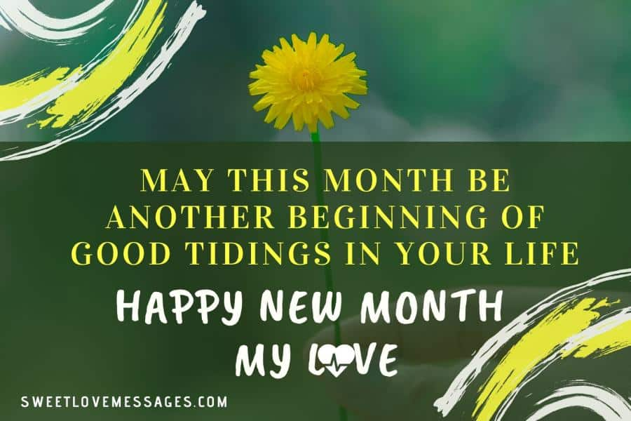 Happy New Month Prayer for Lover