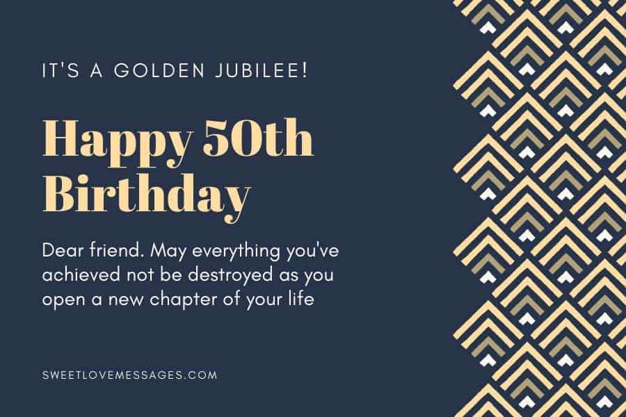 50th Birthday Prayer for a Friend