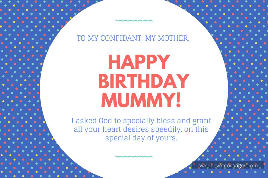 Happy birthday mummy
