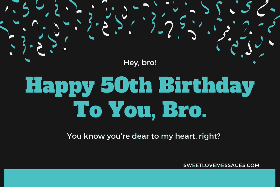 Happy 50th Birthday Wishes for Brother 3