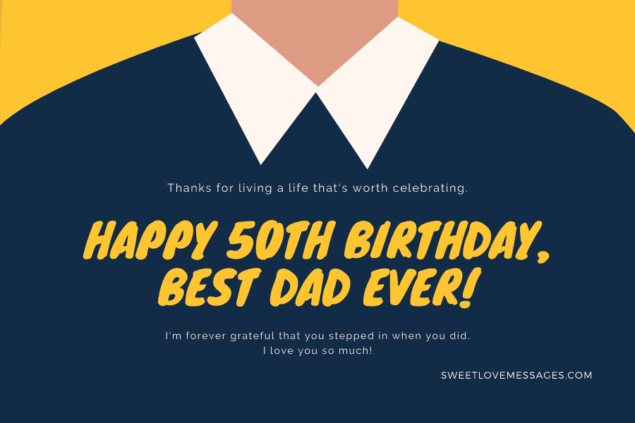 Happy 50th Birthday Wishes for Dad 2
