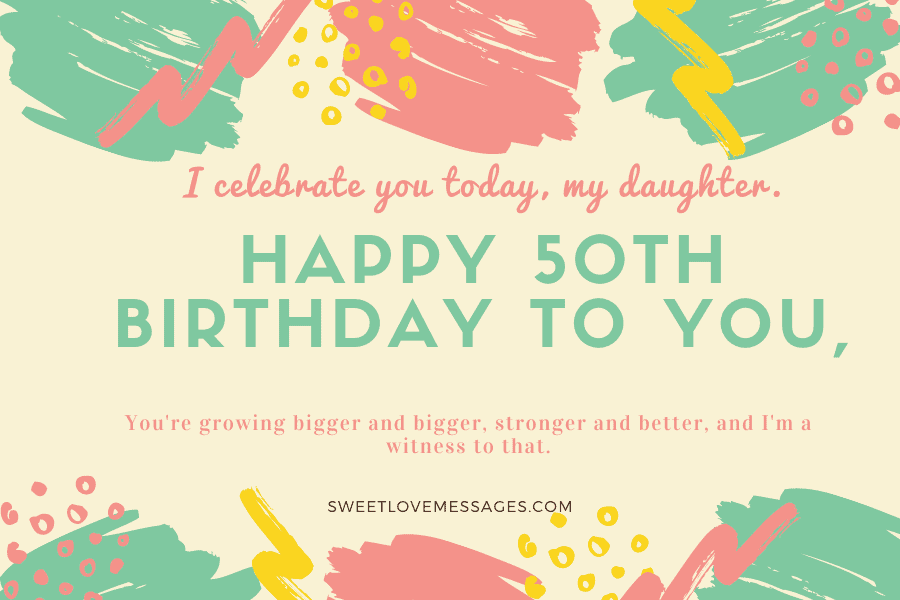 Happy 50th Birthday Wishes for Daughter