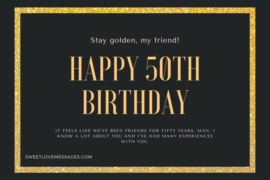 Happy 50th Birthday Wishes for Friend