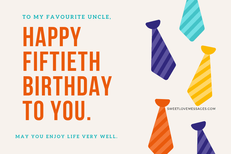 Happy 50th Birthday Wishes for Uncle 2