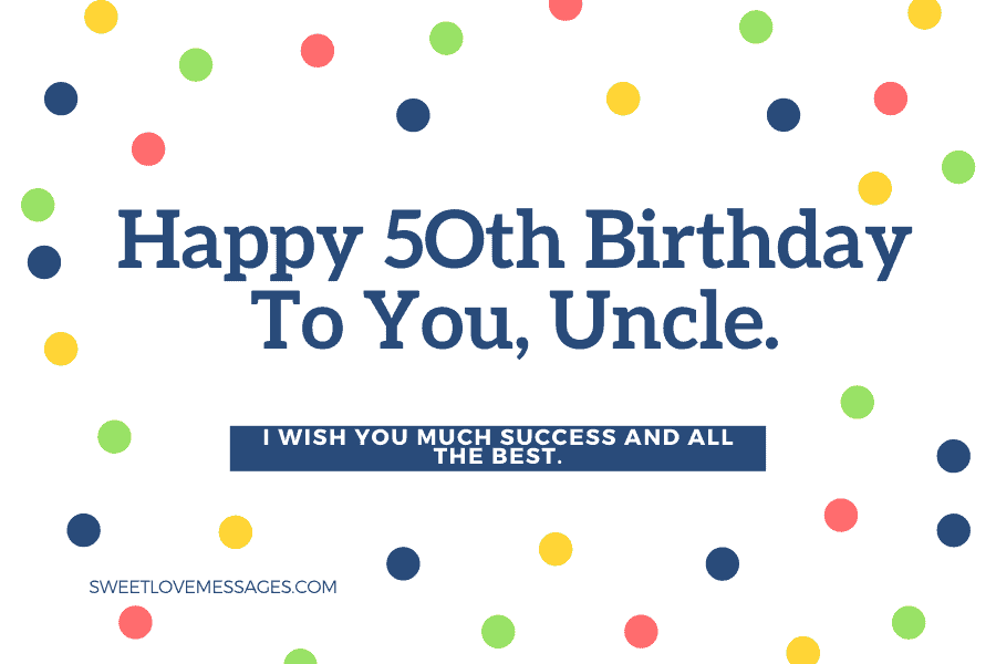 Happy 50th Birthday Wishes for Uncle 3