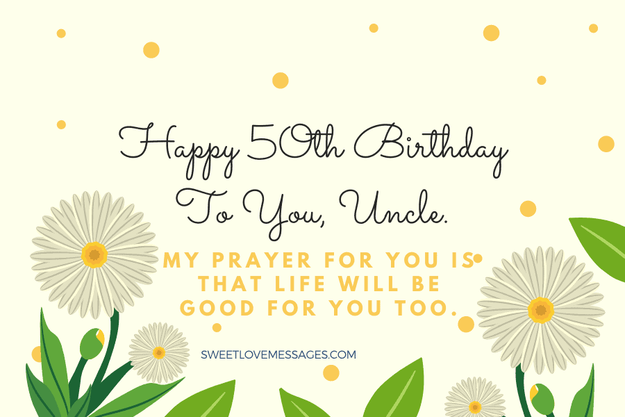 Happy 50th Birthday Wishes for Uncle 4