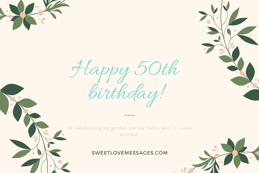 Happy 50th Birthday to Myself 2