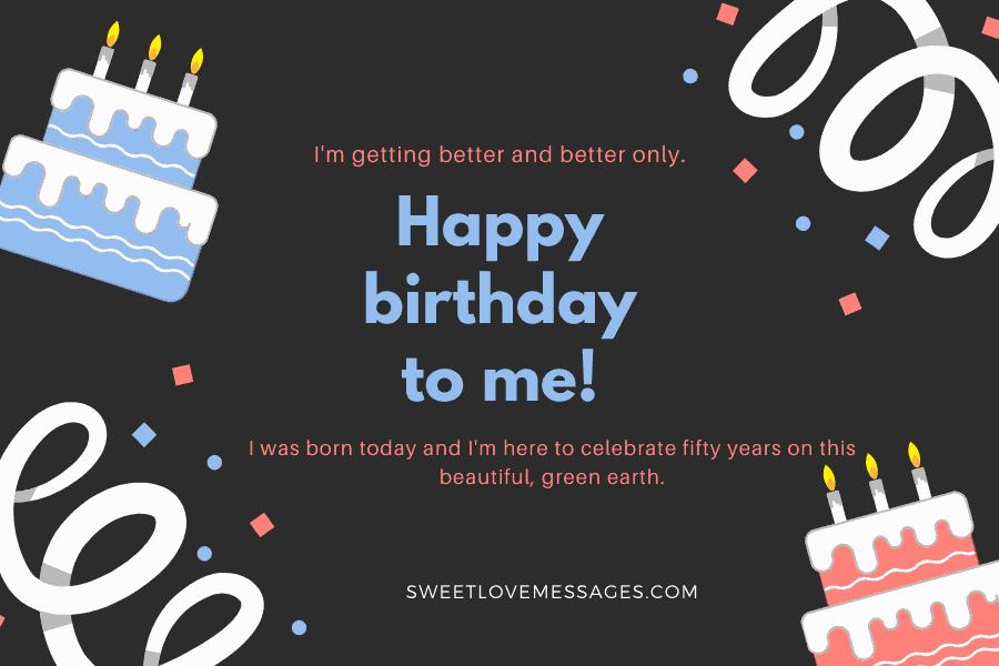 Happy 50th Birthday to Myself