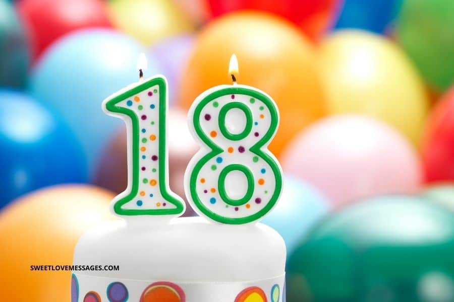 Happy 18th Birthday Wishes for Cousin Male or Female