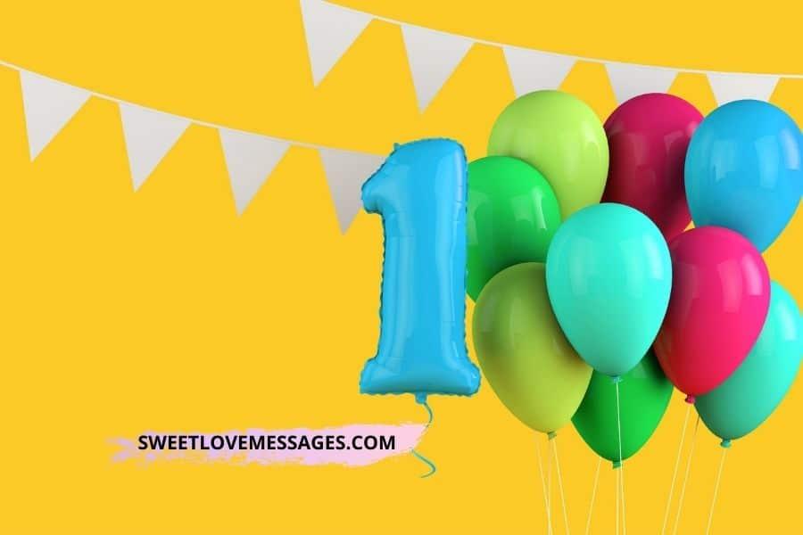 Happy Belated 1st Birthday Wishes