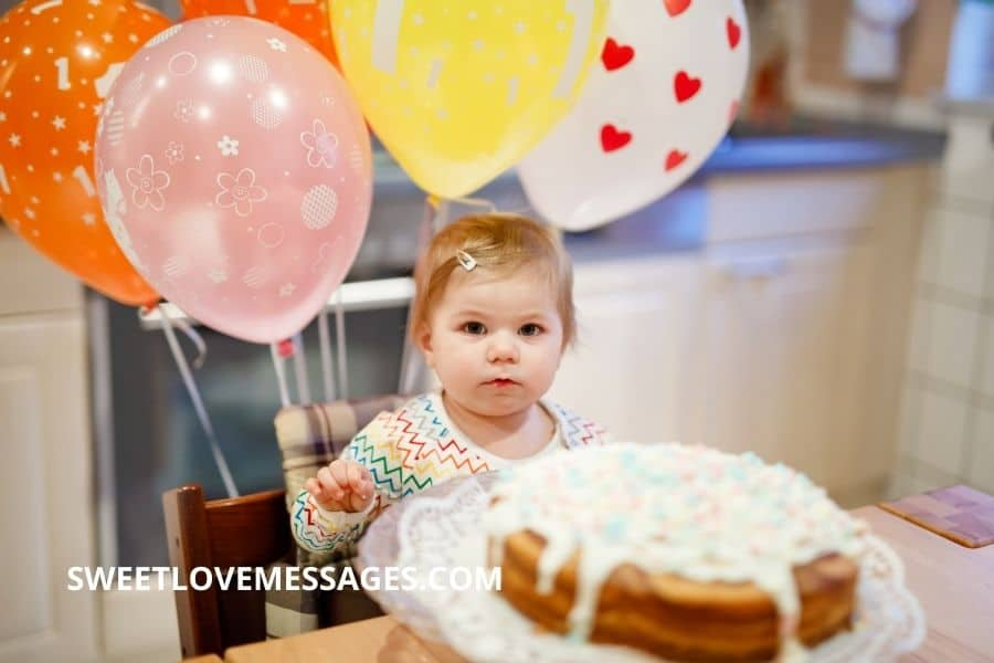 4th Month Birthday Wishes for Baby Girl