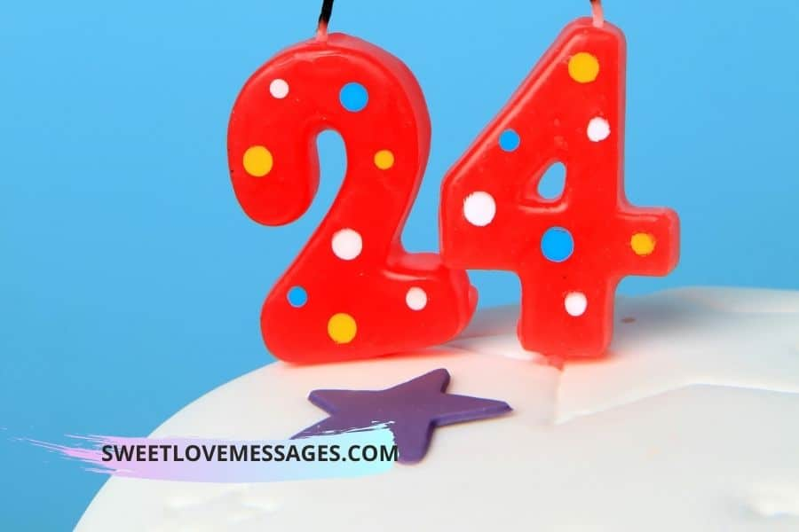 24th Birthday Wishes for Boyfriend