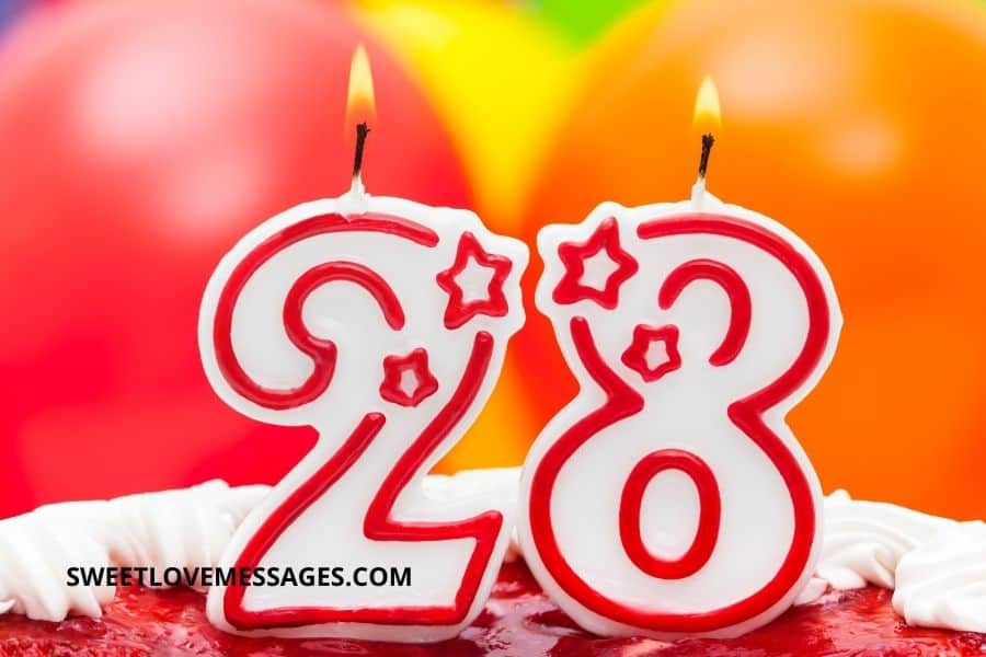 Happy 28th Birthday Wishes for Girlfriend