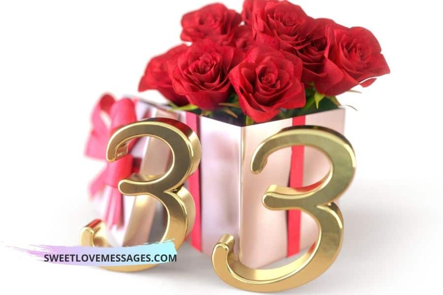 Happy 33rd Birthday Wishes for Girlfriend