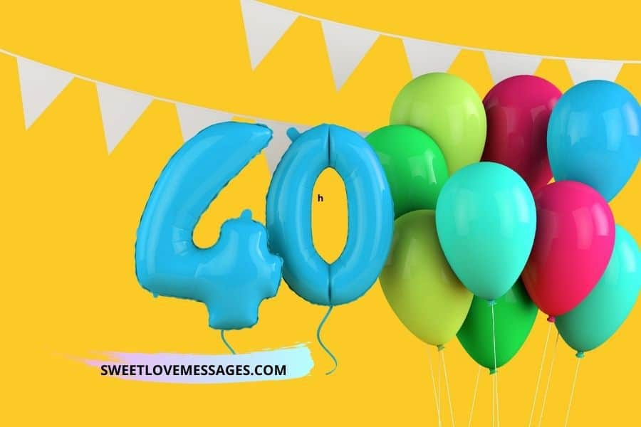 Happy 40th Birthday Wishes for Friend - Female or Male