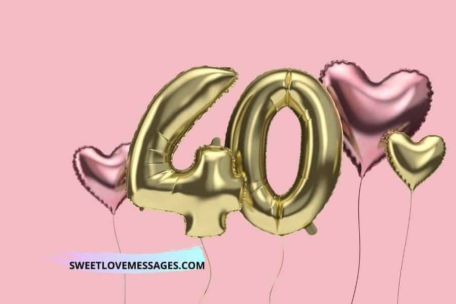Happy 40th Birthday Wishes for Girlfriend