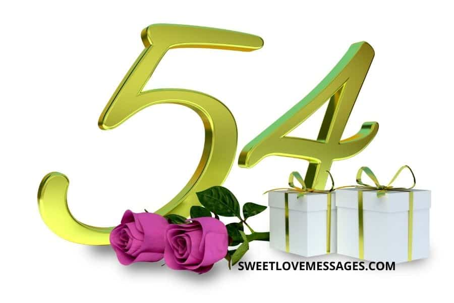 Happy 54th Birthday Wishes for Girlfriend