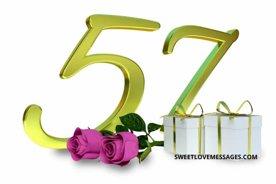Happy 57th Birthday Wishes for Girlfriend