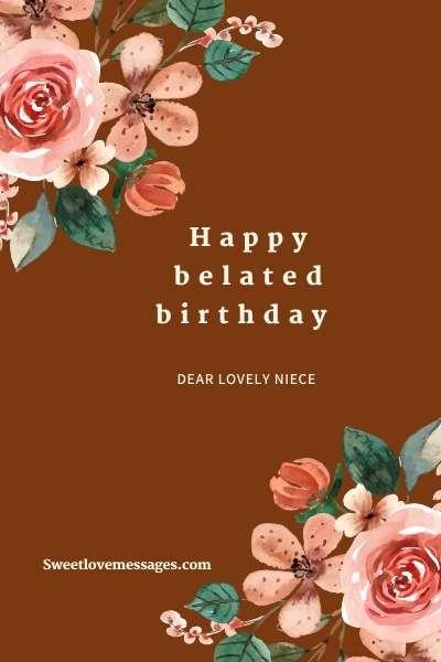 Happy Belated Birthday Niece