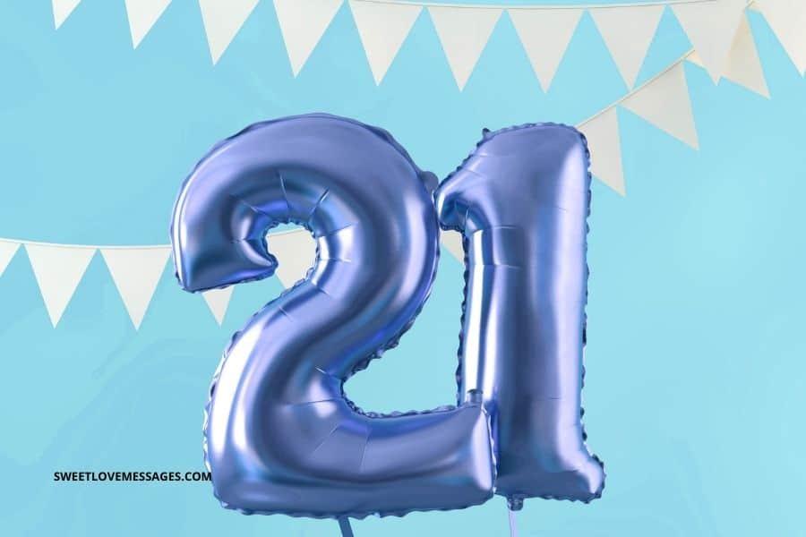 Happy 21st birthday wishes for nephew