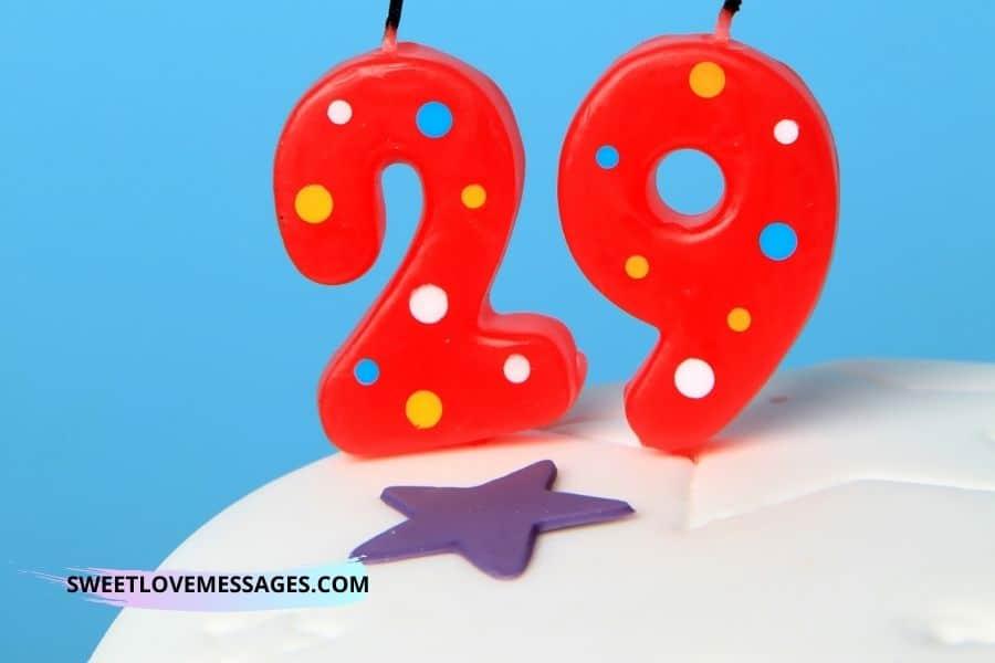 29th Birthday Wishes for Boyfriend