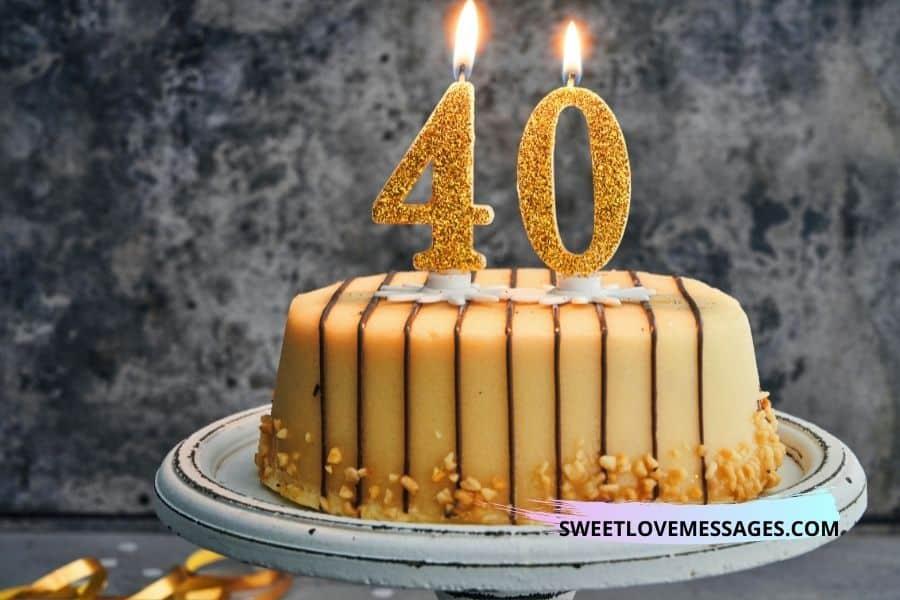 40th Birthday Wishes for Boyfriend
