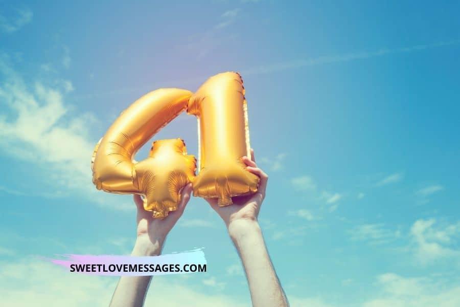 Happy 41st Birthday Wishes for Girlfriend
