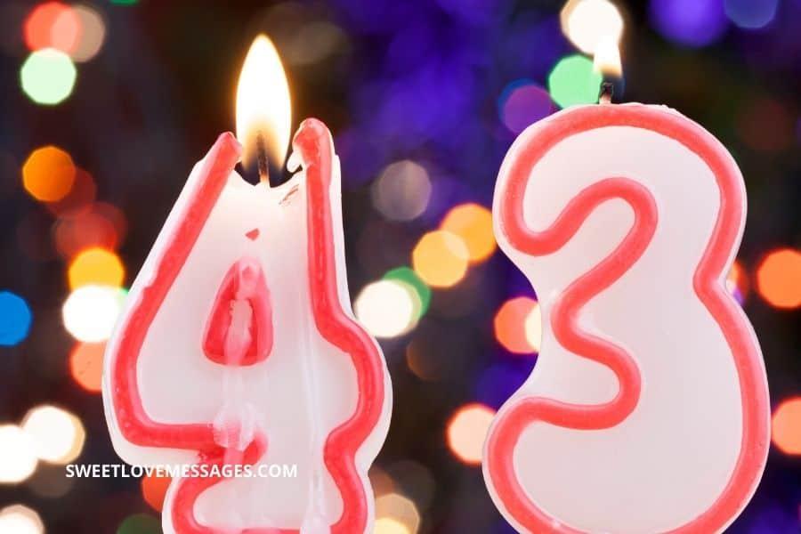43rd Birthday Wishes for Boyfriend