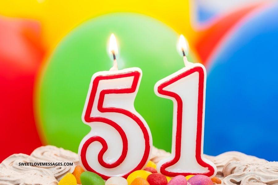 Happy 51st Birthday Wishes for Girlfriend