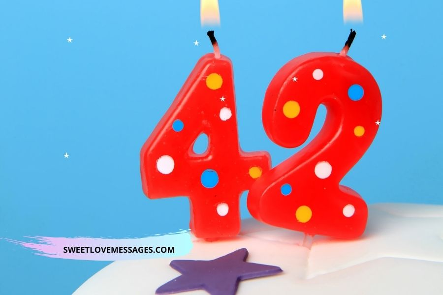 42nd birthday wishes for husband