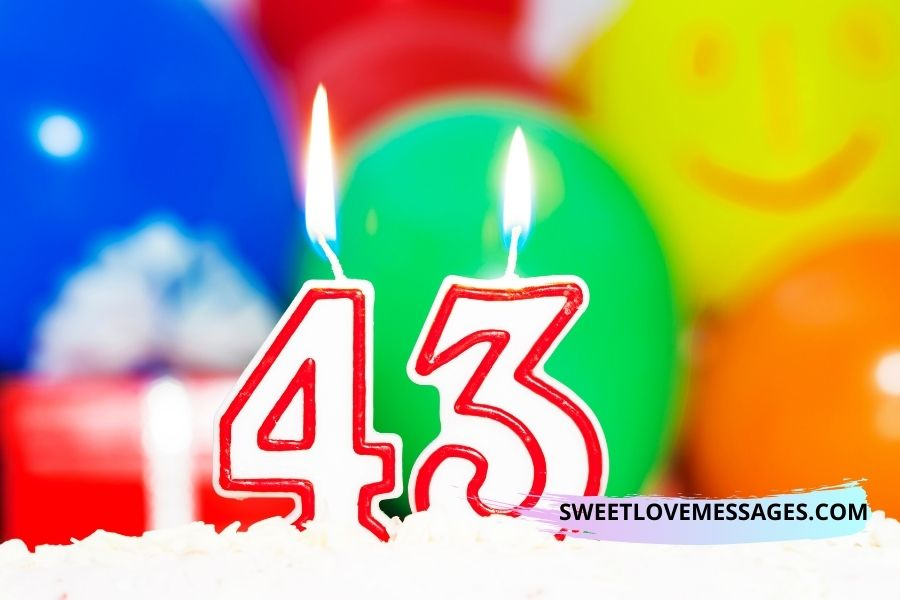 43rd birthday wishes for husband