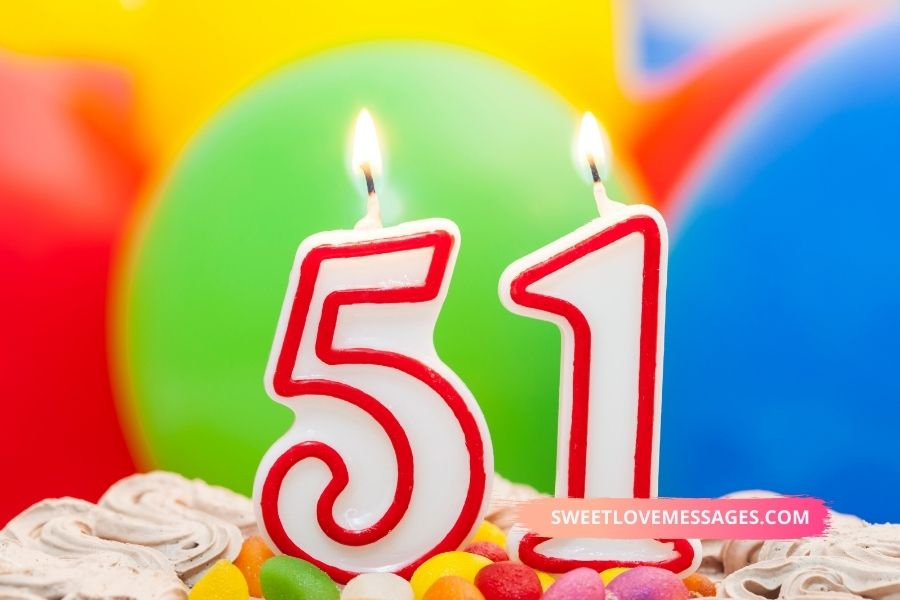 51st birthday wishes for wife
