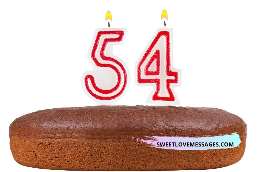 54th birthday wishes for husband