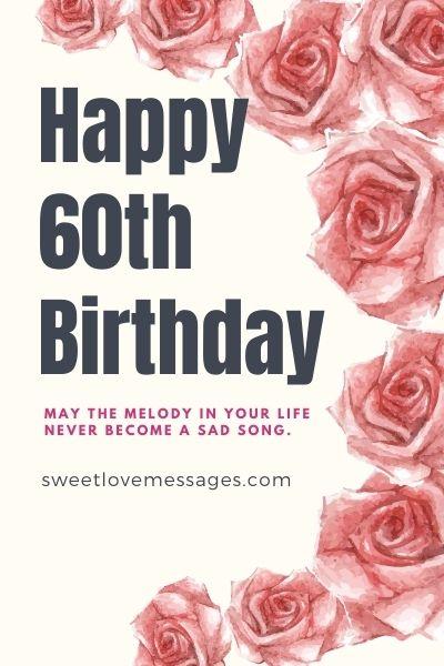 Happy 60th Birthday Wishes
