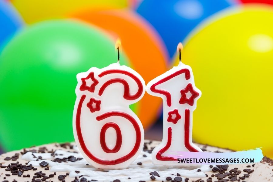 61st birthday wishes for wife