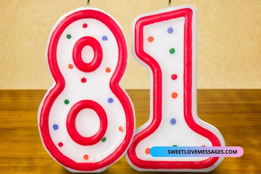 81st Birthday Messages for Wife