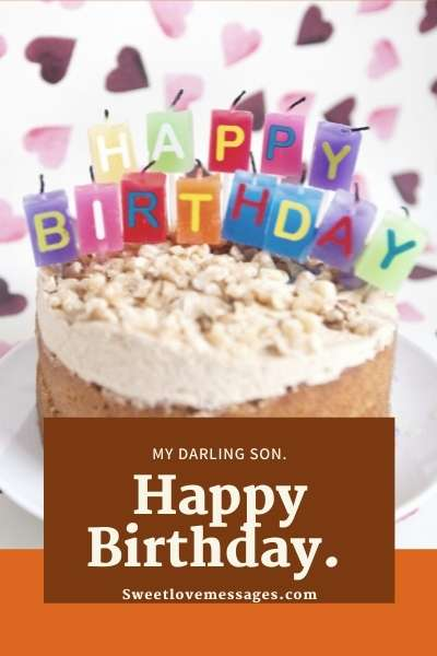 Birthday Cake Messages for Son