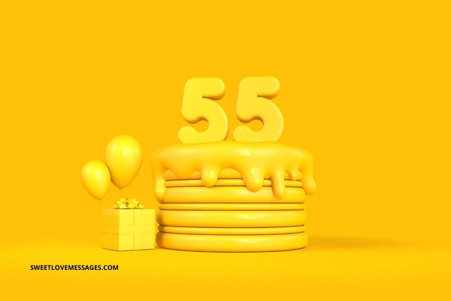55th Birthday Wishes for Husband