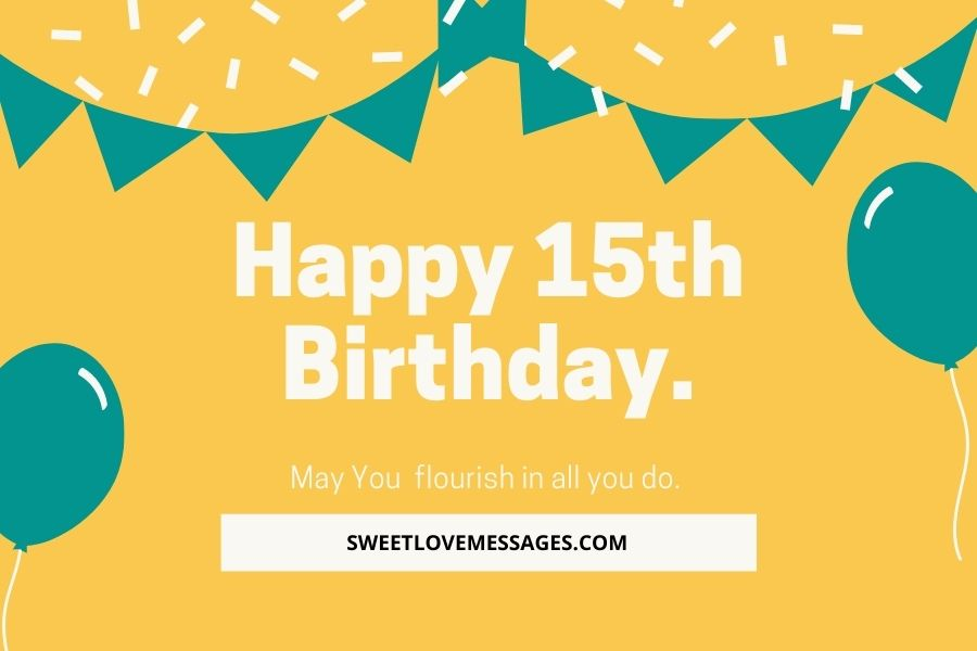 Happy Birthday Images for 15 Year