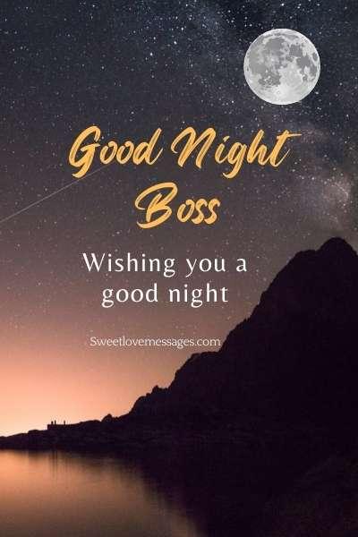 Good Night Boss Messages