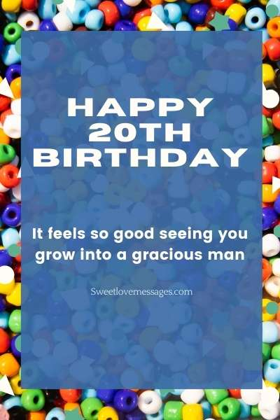 Happy 20th Birthday Wishes for My Son