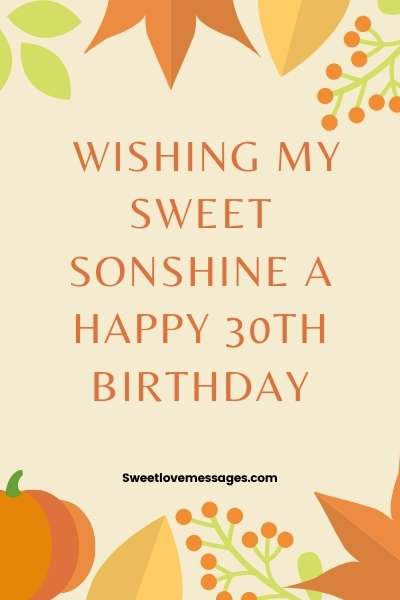 Happy 30th Birthday Wishes for Son