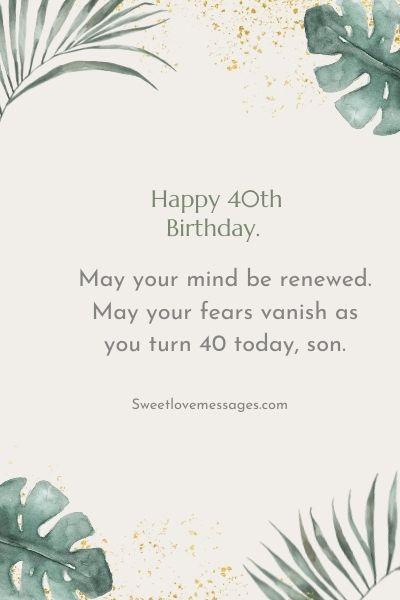 Happy 40th Birthday Wishes for Son
