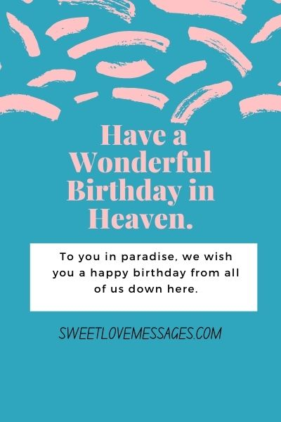 Happy Birthday Wishes for Deceased Son