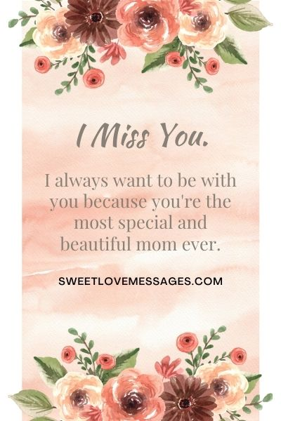 I Miss You Mom Messages